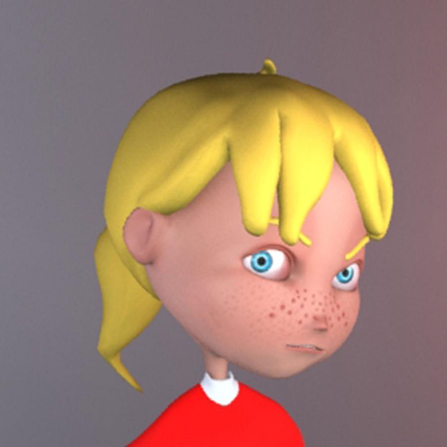 Cartoon girl lydia royalty-free 3d model - Preview no. 9