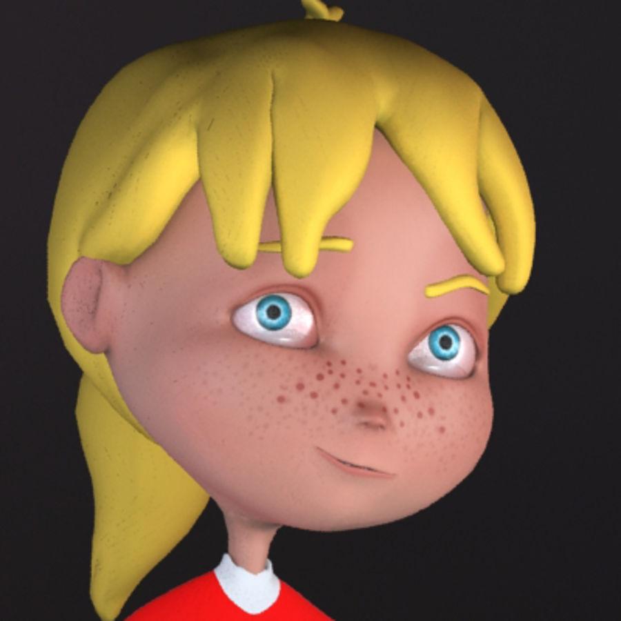 Cartoon girl lydia royalty-free 3d model - Preview no. 6