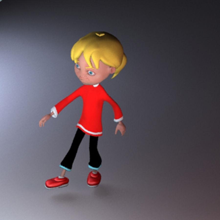 Cartoon girl lydia royalty-free 3d model - Preview no. 5