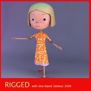 jane the cute girl 3d model