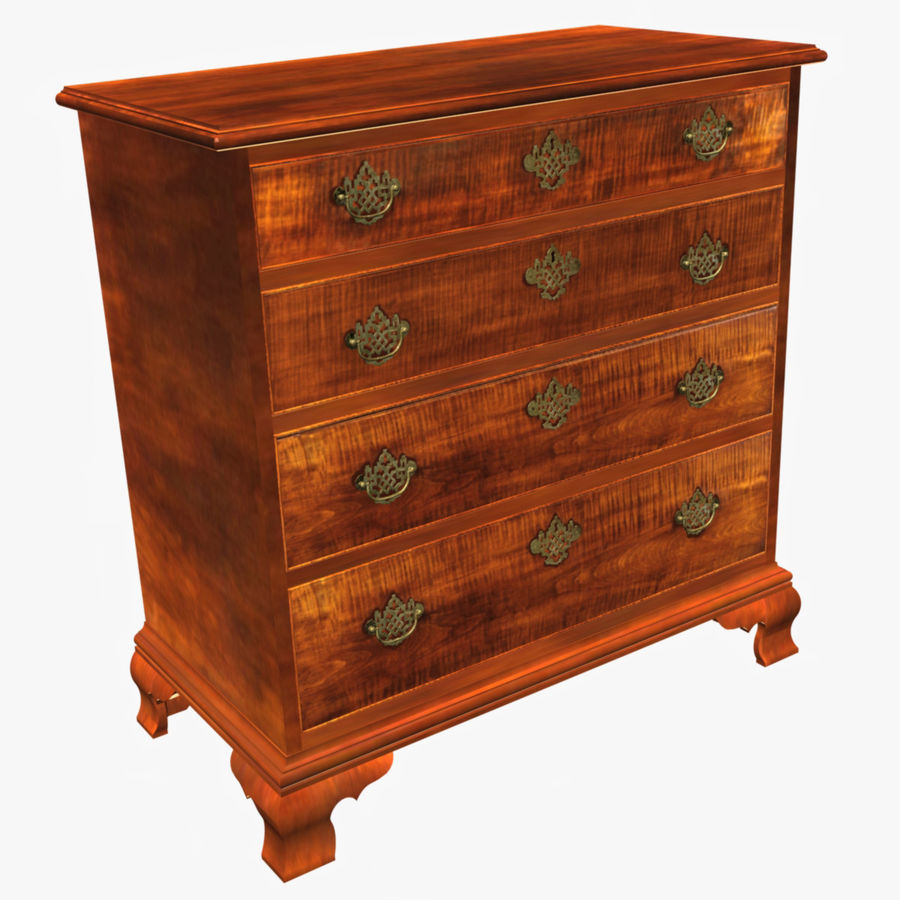 Tiger Maple Chest royalty-free 3d model - Preview no. 1