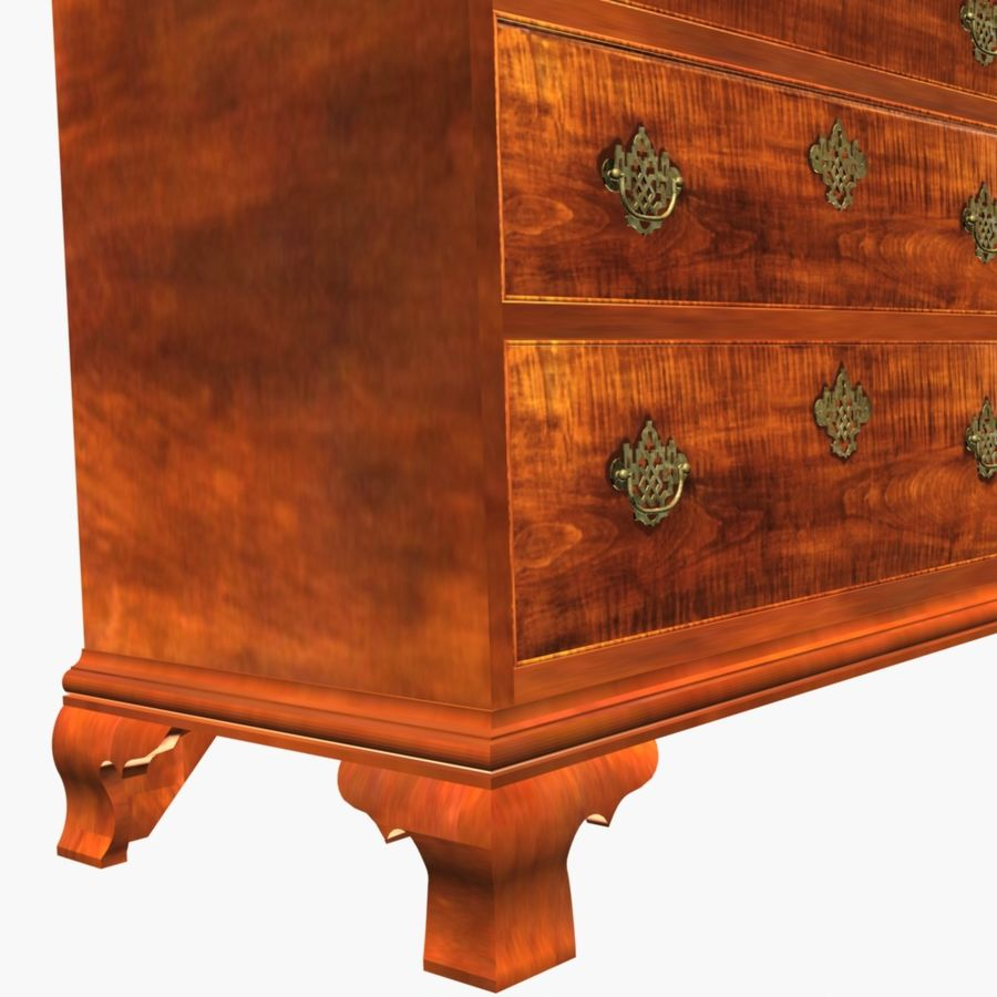 Tiger Maple Chest royalty-free 3d model - Preview no. 6