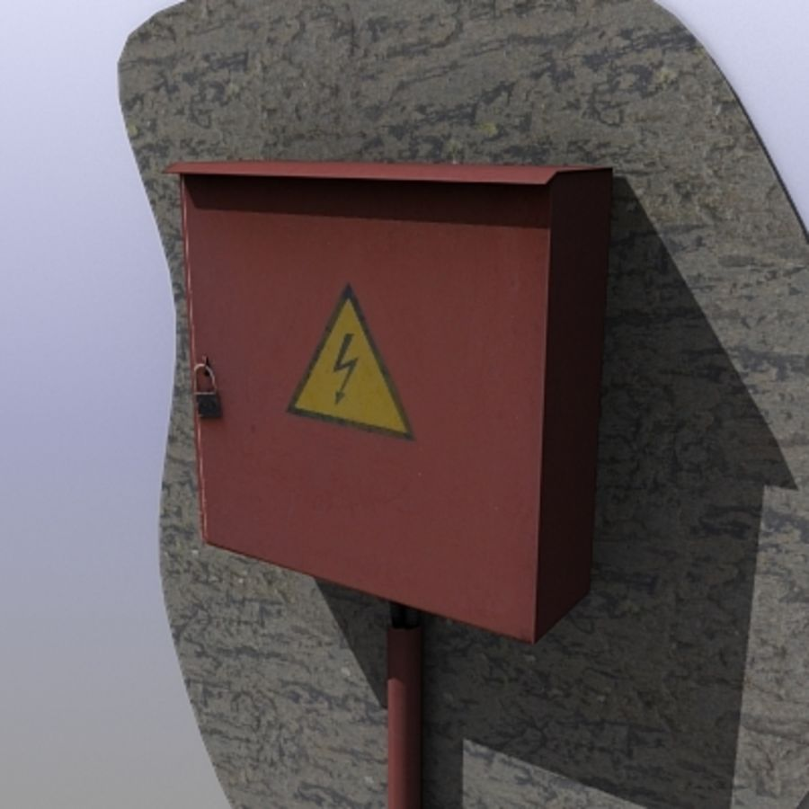 Power Box royalty-free 3d model - Preview no. 1