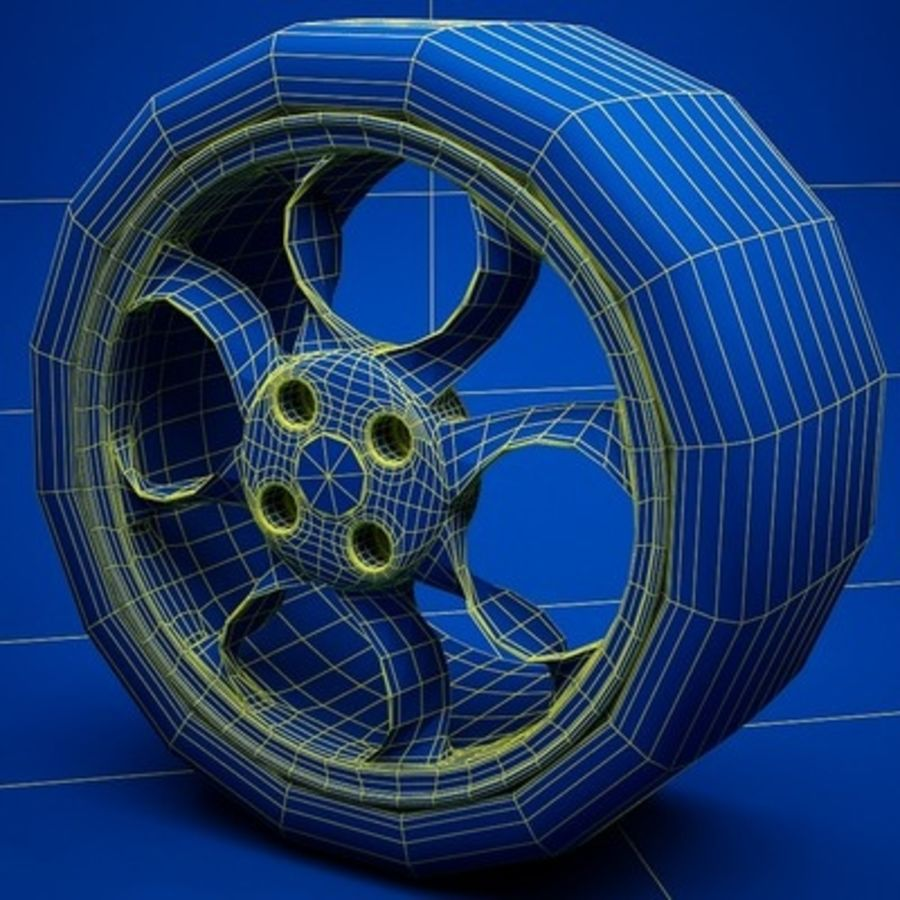 Wheel royalty-free 3d model - Preview no. 7
