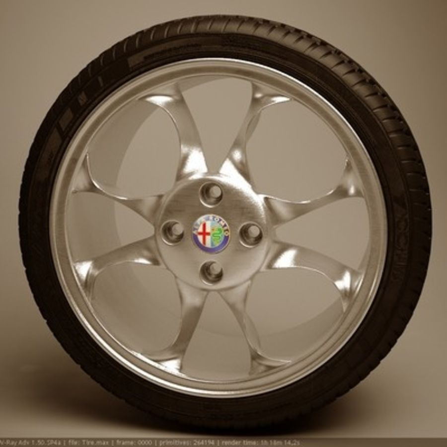Wheel royalty-free 3d model - Preview no. 1
