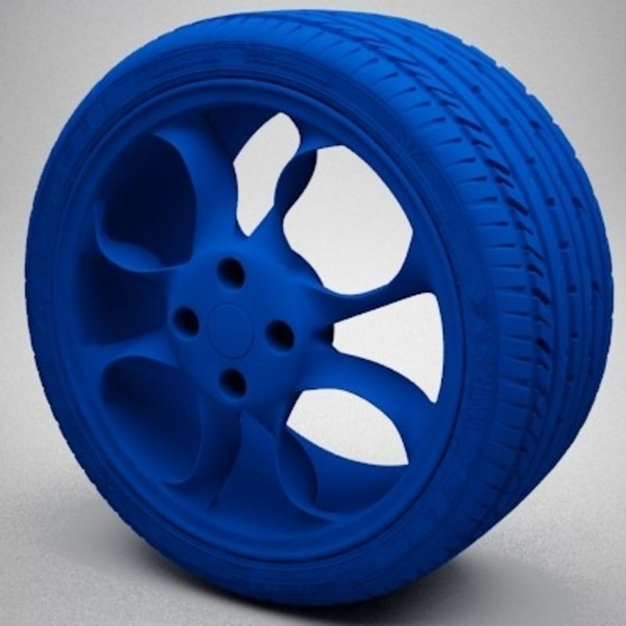 Wheel royalty-free 3d model - Preview no. 8