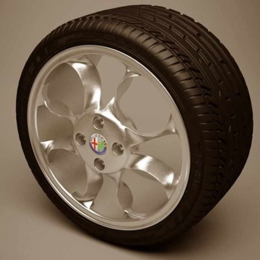 Wheel royalty-free 3d model - Preview no. 5