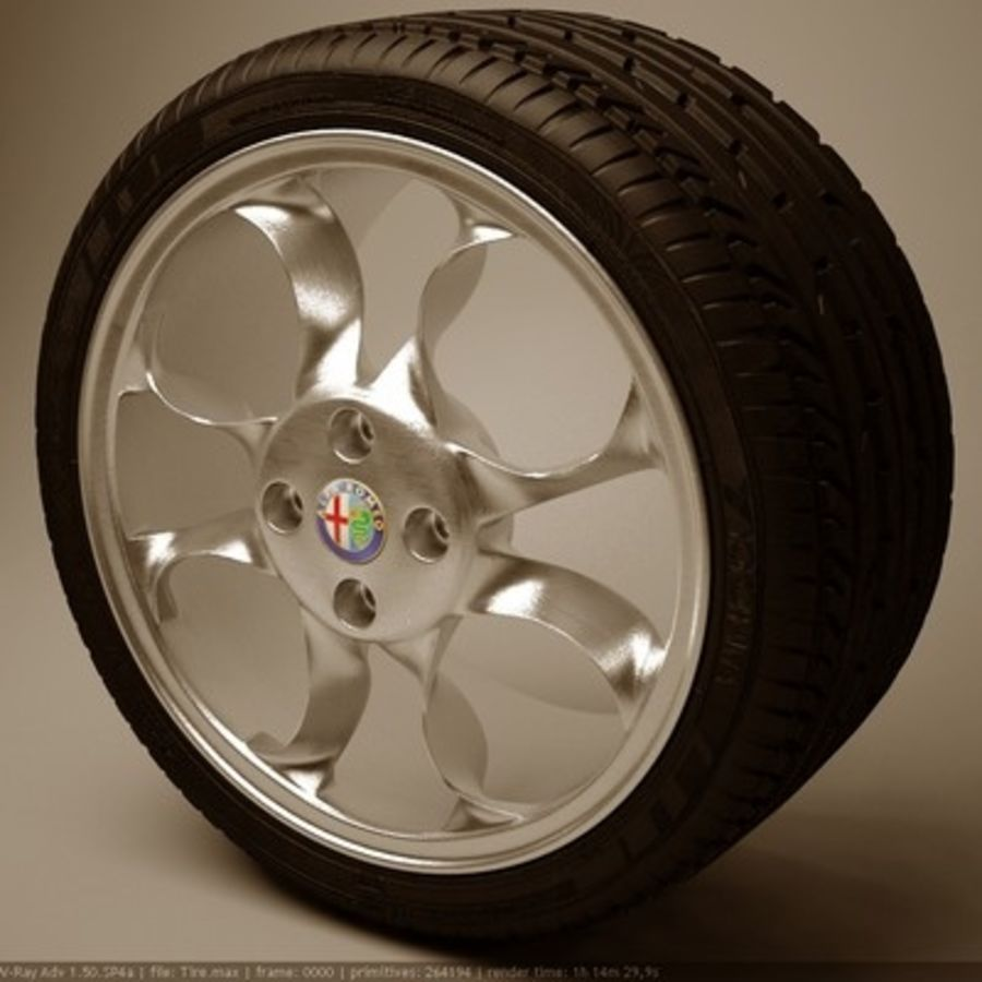 Wheel royalty-free 3d model - Preview no. 2