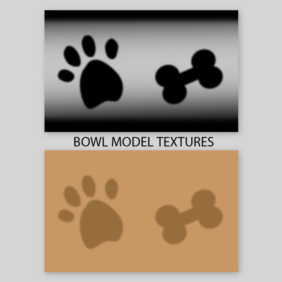 Tigela de Água para Comida de Cachorro (Baixa) royalty-free 3d model - Preview no. 2