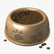 Dog Food Water Bowl (Low) 3d model