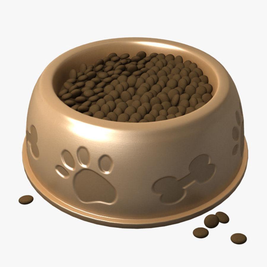Tigela de Água para Comida de Cachorro (Baixa) royalty-free 3d model - Preview no. 1
