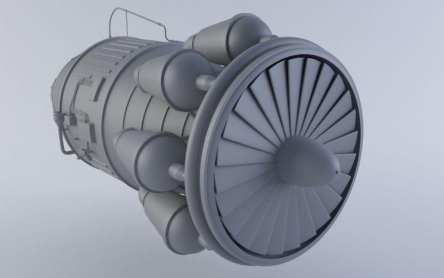 Hi-poly Jet-motor MKIIIb royalty-free 3d model - Preview no. 2