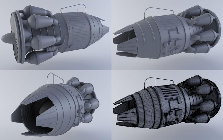 Hi-poly Jet-motor MKIIIb royalty-free 3d model - Preview no. 1