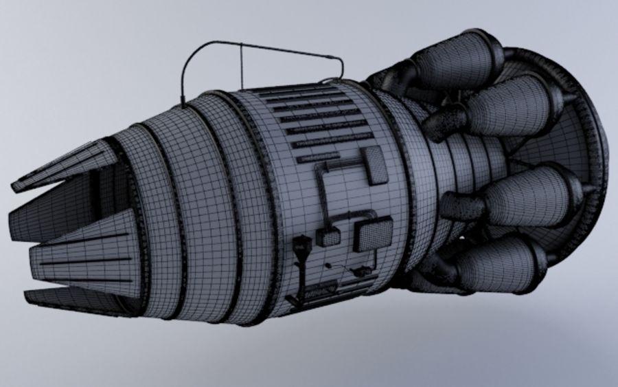 Hi-poly Jet-motor MKIIIb royalty-free 3d model - Preview no. 5