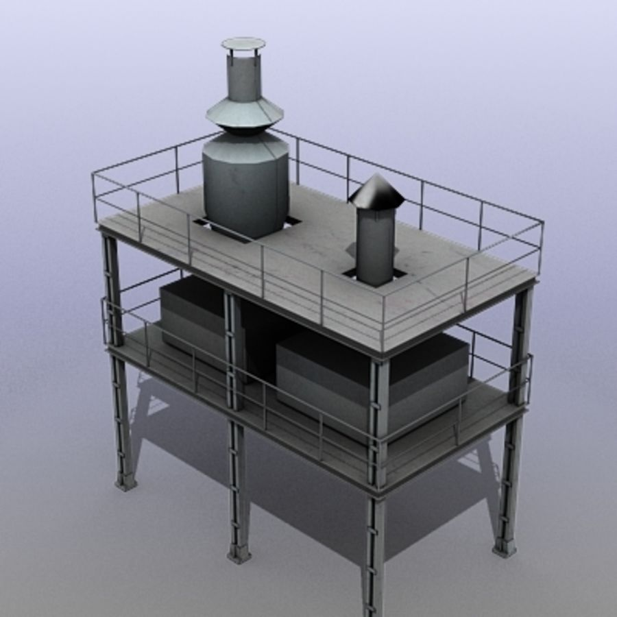 Vent System royalty-free 3d model - Preview no. 1