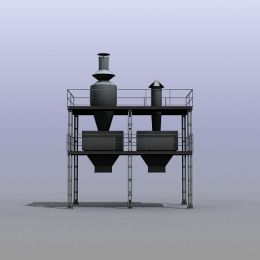 Vent System royalty-free 3d model - Preview no. 4