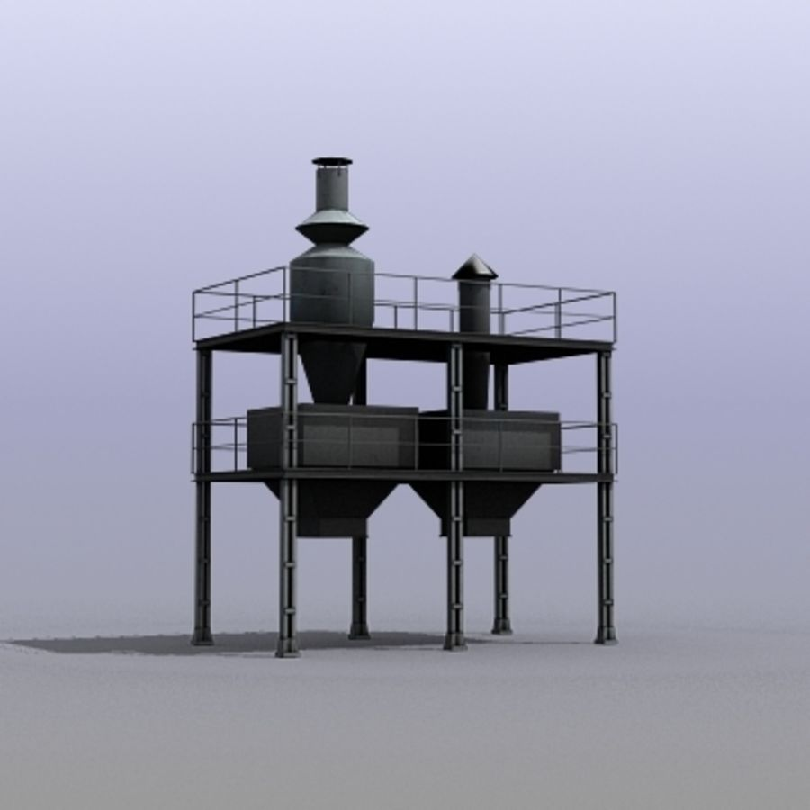 Vent System royalty-free 3d model - Preview no. 10