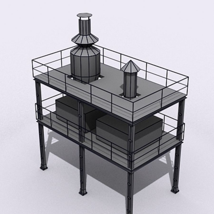 Vent System royalty-free 3d model - Preview no. 3
