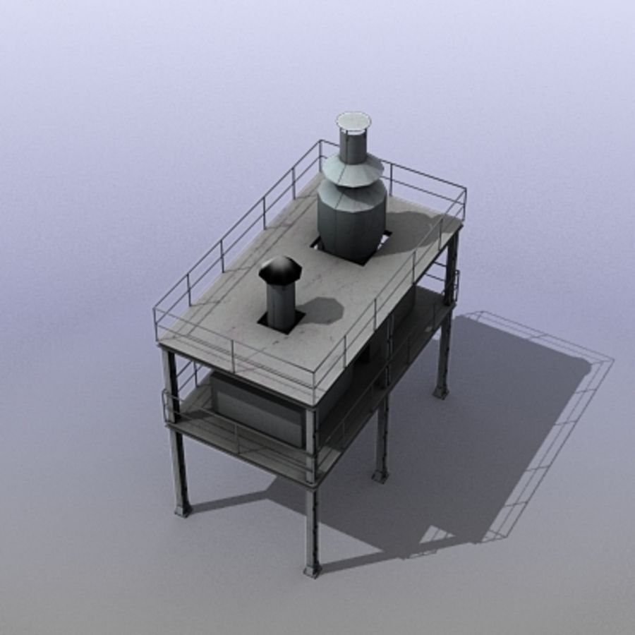 Vent System royalty-free 3d model - Preview no. 7