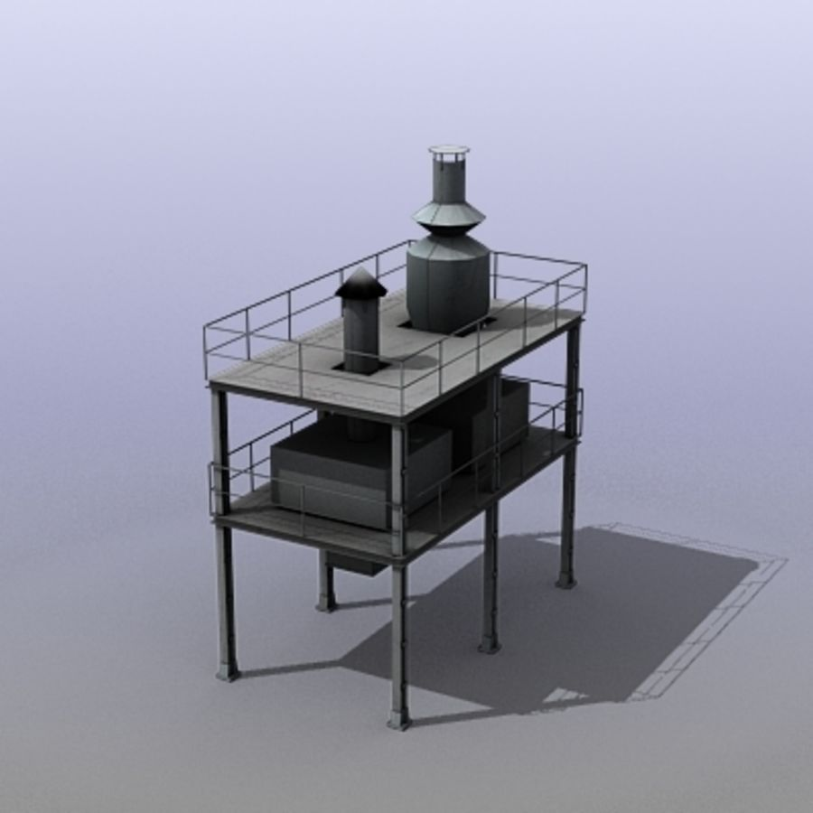 Vent System royalty-free 3d model - Preview no. 8