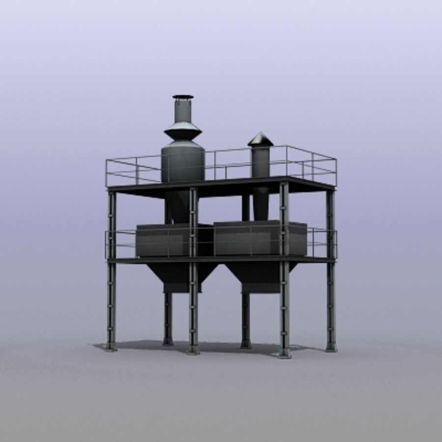 Vent System royalty-free 3d model - Preview no. 2