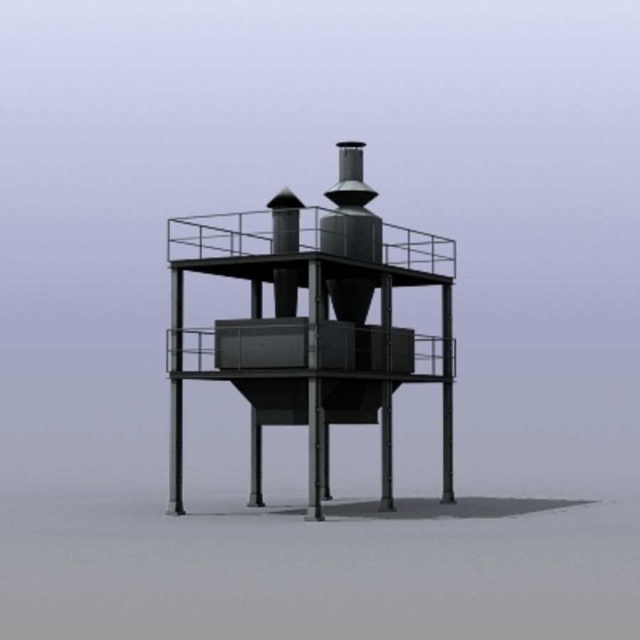 Vent System royalty-free 3d model - Preview no. 5