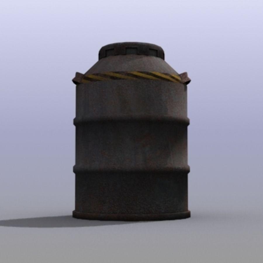 Oil Barrels royalty-free 3d model - Preview no. 27