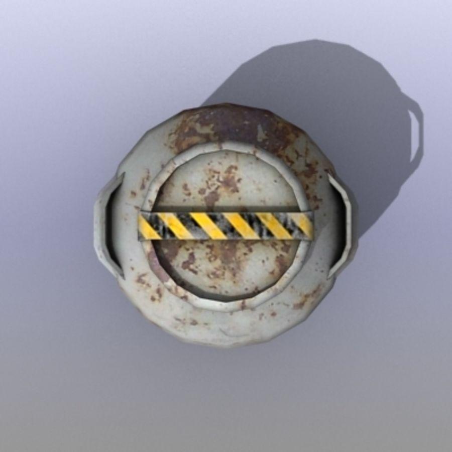 Oil Barrels royalty-free 3d model - Preview no. 2