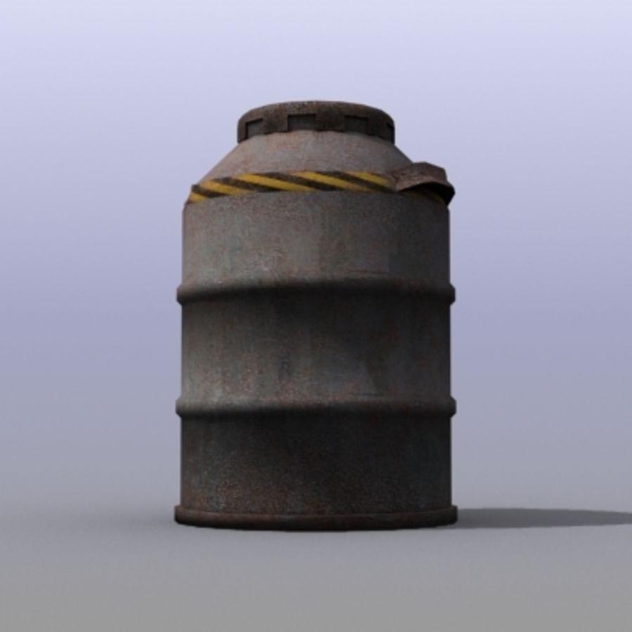 Oil Barrels royalty-free 3d model - Preview no. 16