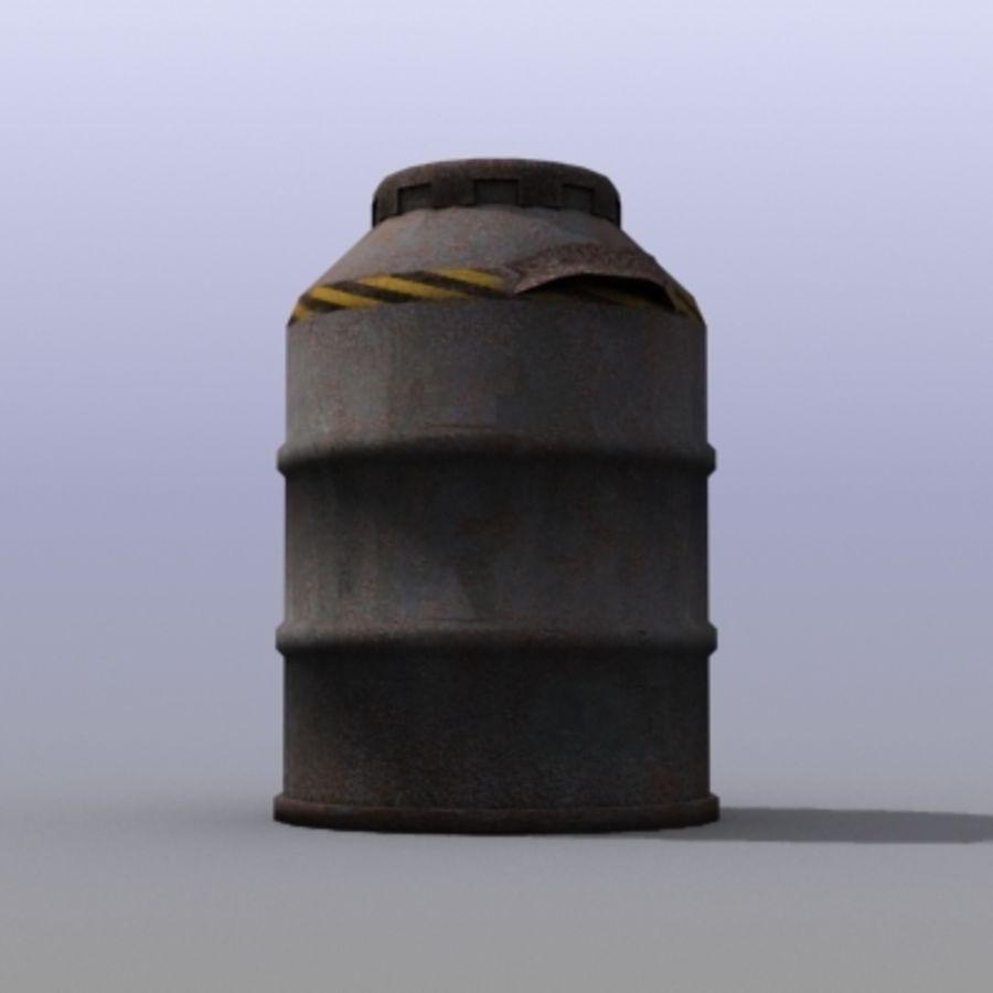 Oil Barrels royalty-free 3d model - Preview no. 25