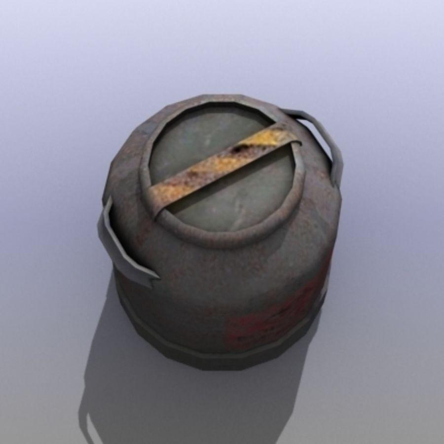 Oil Barrels royalty-free 3d model - Preview no. 37