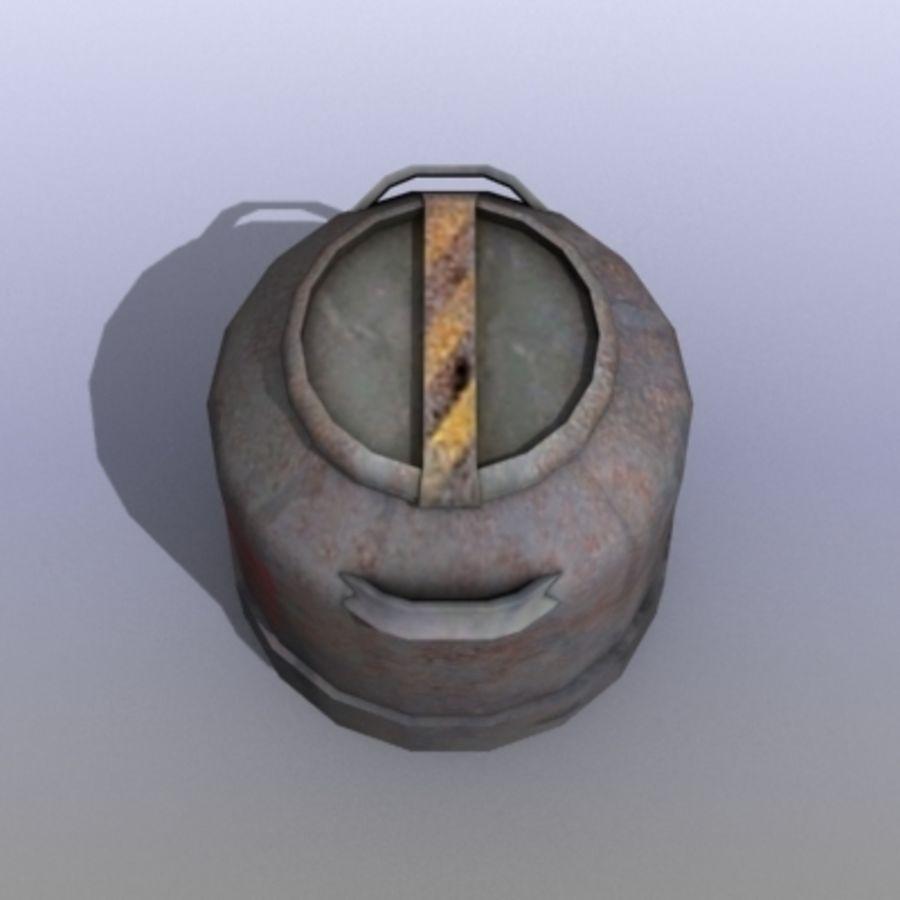 Oil Barrels royalty-free 3d model - Preview no. 35