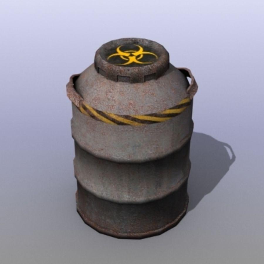Oil Barrels royalty-free 3d model - Preview no. 30
