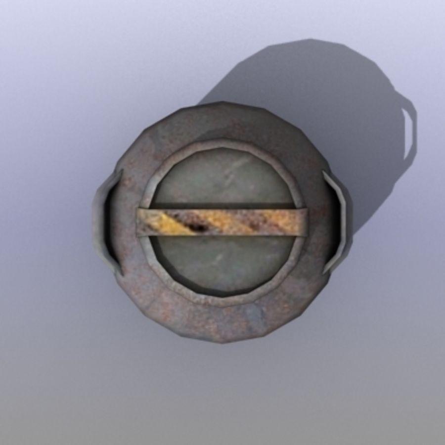 Oil Barrels royalty-free 3d model - Preview no. 34