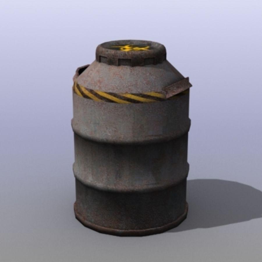 Oil Barrels royalty-free 3d model - Preview no. 20