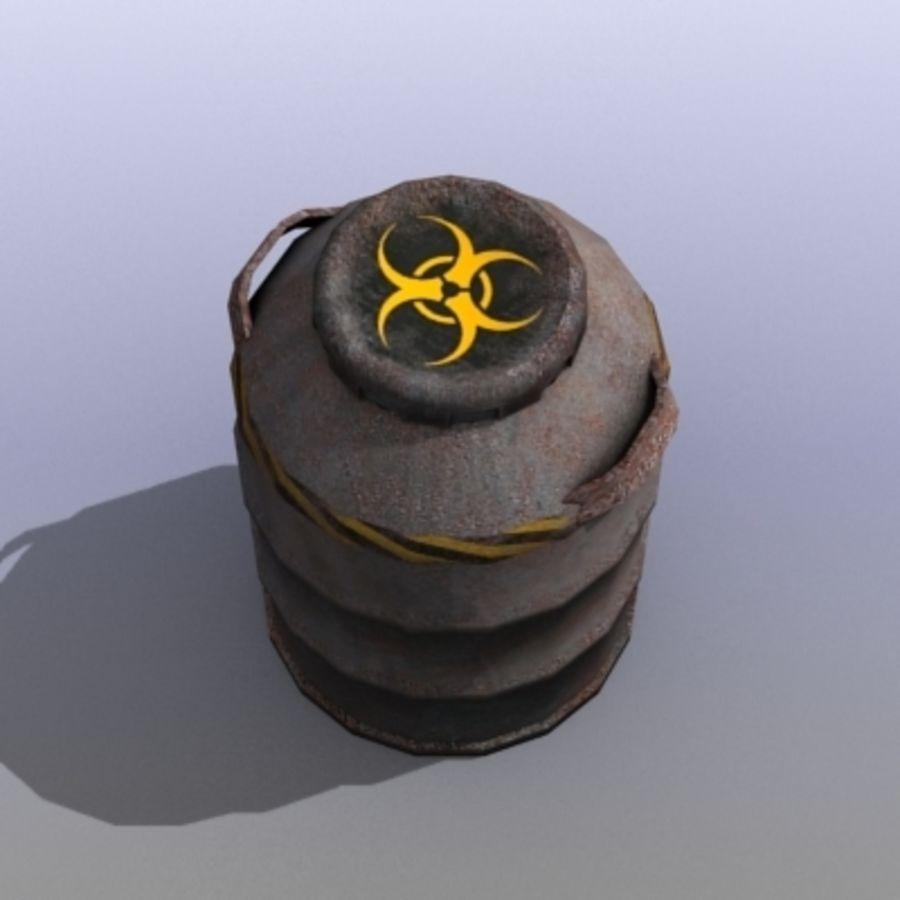 Oil Barrels royalty-free 3d model - Preview no. 32