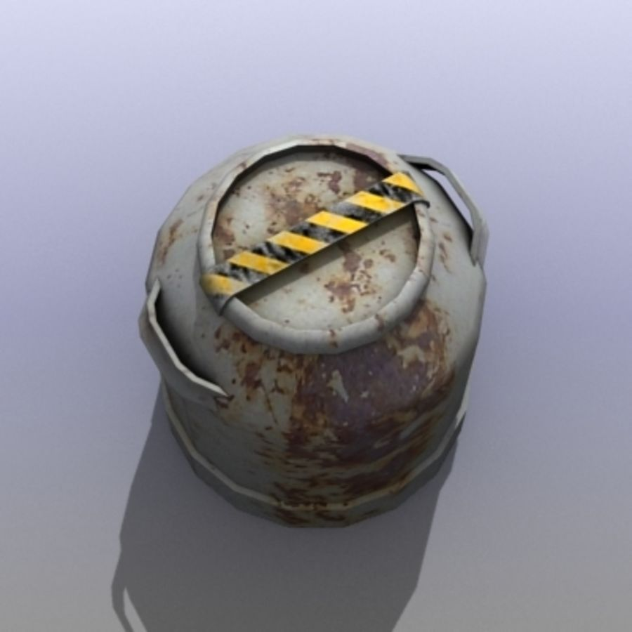 Oil Barrels royalty-free 3d model - Preview no. 7