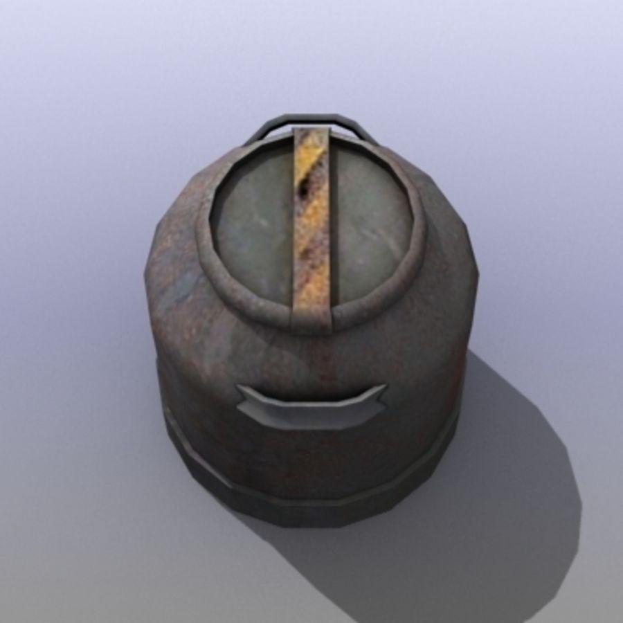 Oil Barrels royalty-free 3d model - Preview no. 42