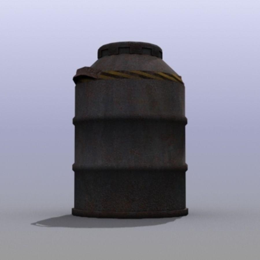 Oil Barrels royalty-free 3d model - Preview no. 17