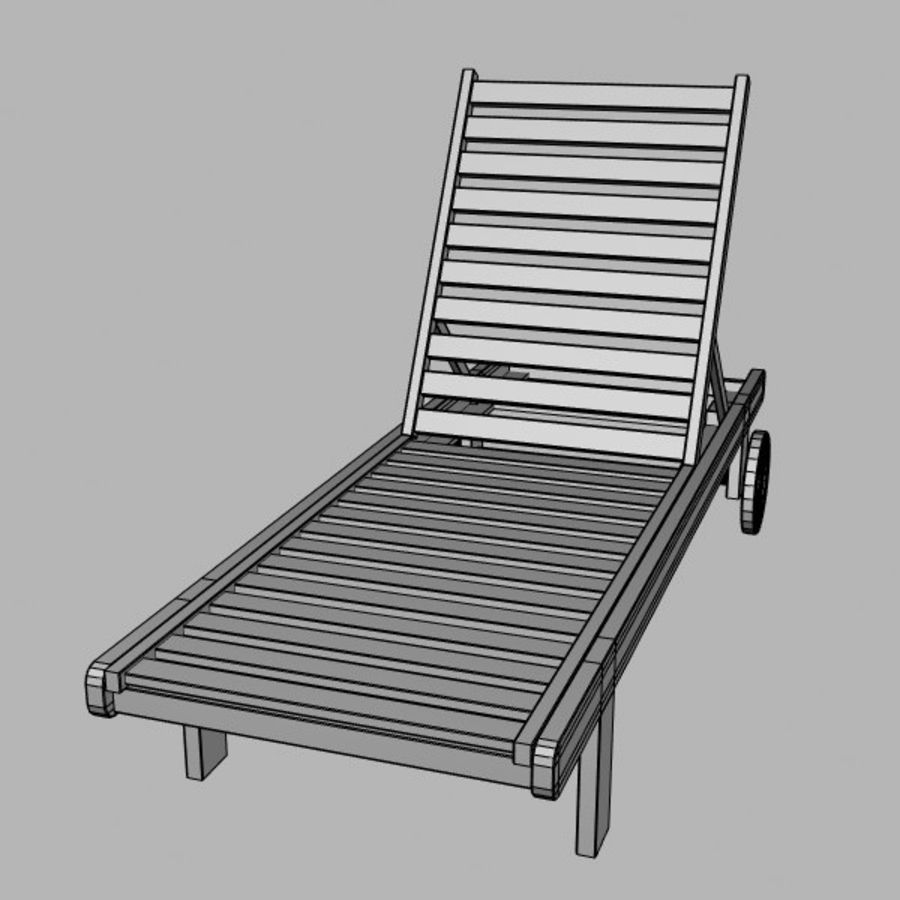 太阳椅 royalty-free 3d model - Preview no. 6