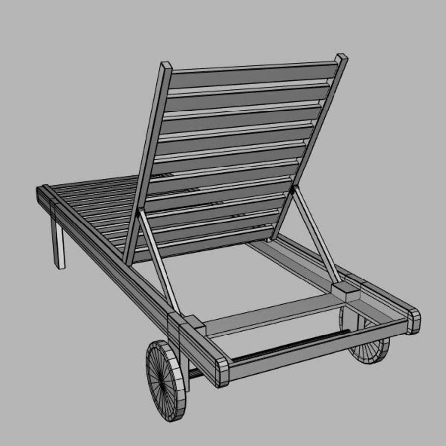 太阳椅 royalty-free 3d model - Preview no. 7