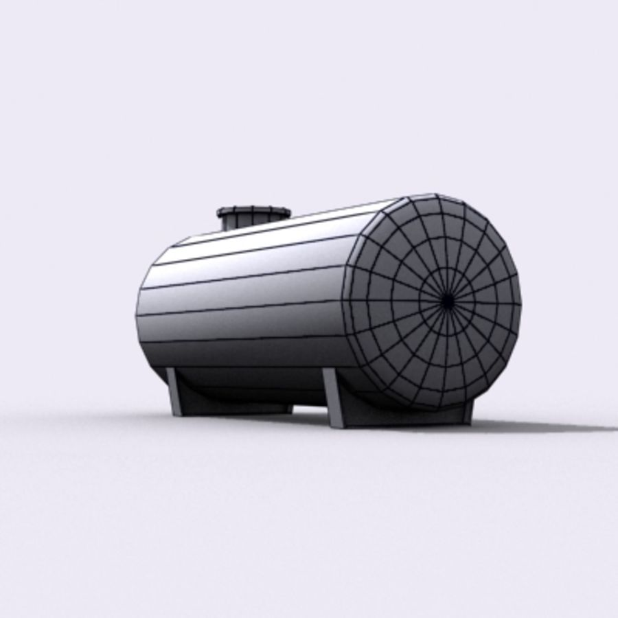 Einfacher Wassertank royalty-free 3d model - Preview no. 6