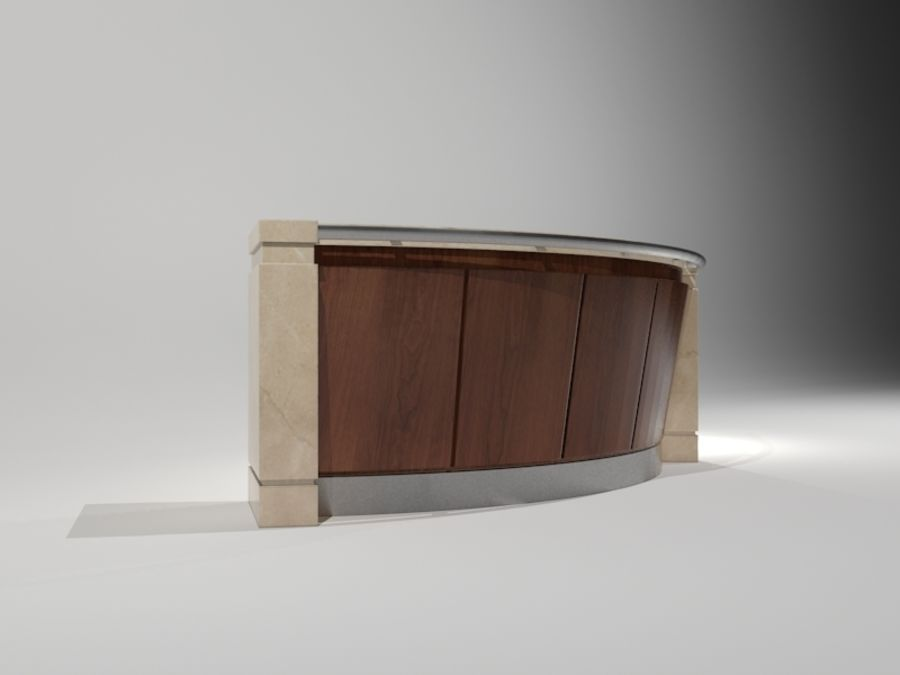 Conceirge Desk02 royalty-free 3d model - Preview no. 2