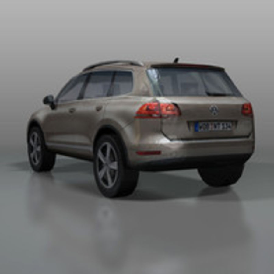 VolksWagen Car Touareg royalty-free 3d model - Preview no. 8