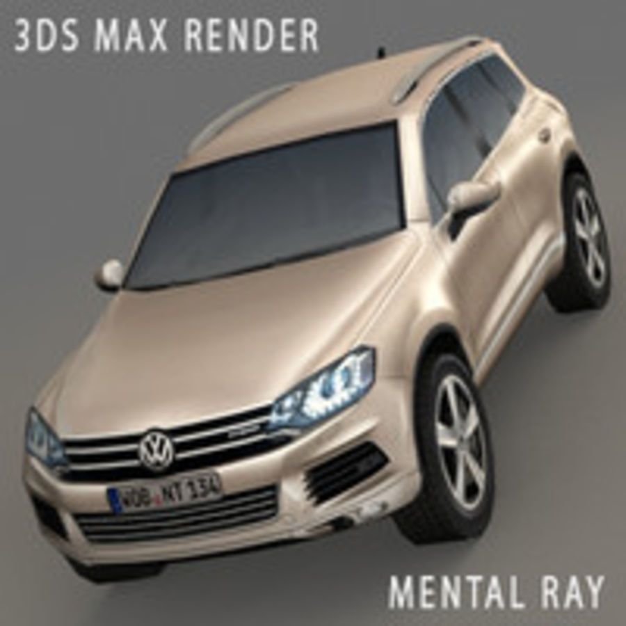 VolksWagen Car Touareg royalty-free 3d model - Preview no. 3