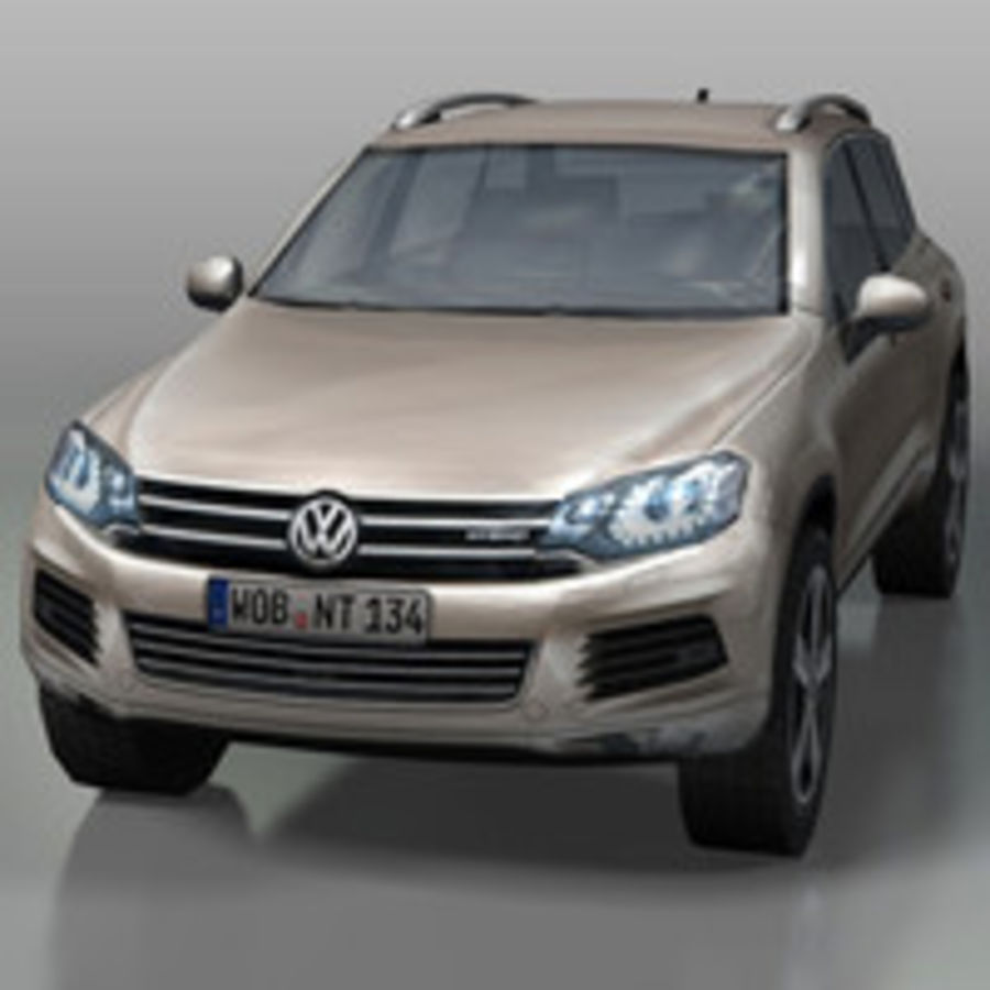 VolksWagen Car Touareg royalty-free 3d model - Preview no. 7