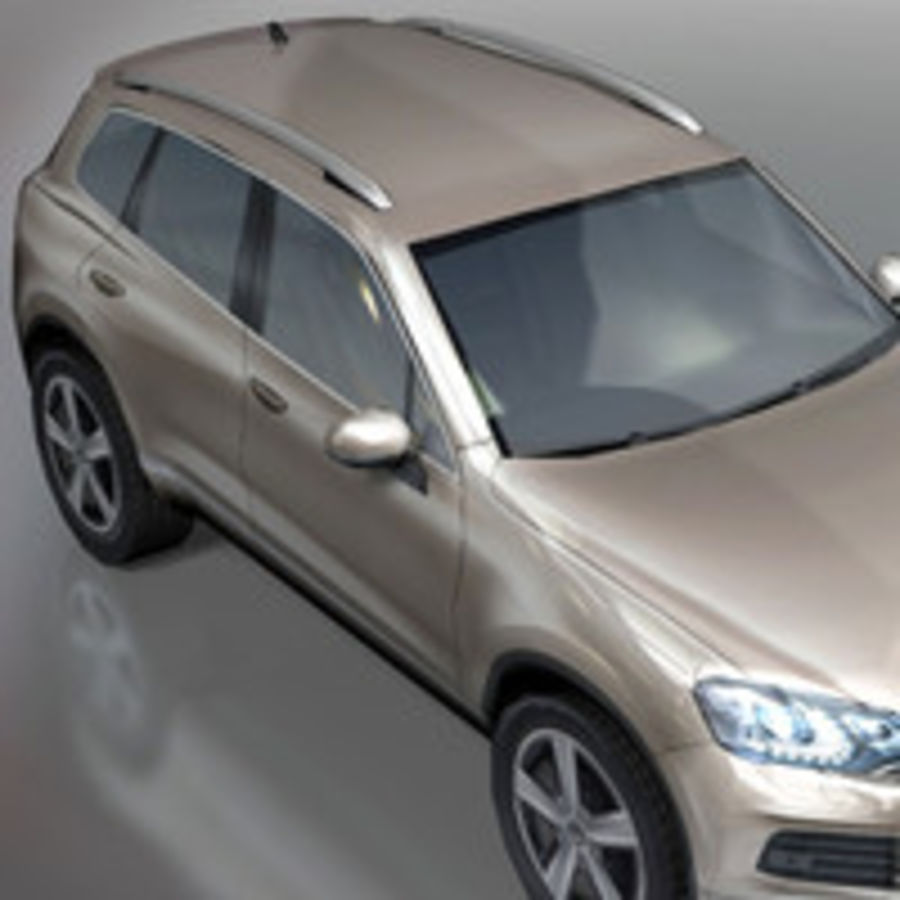 VolksWagen Car Touareg royalty-free 3d model - Preview no. 4