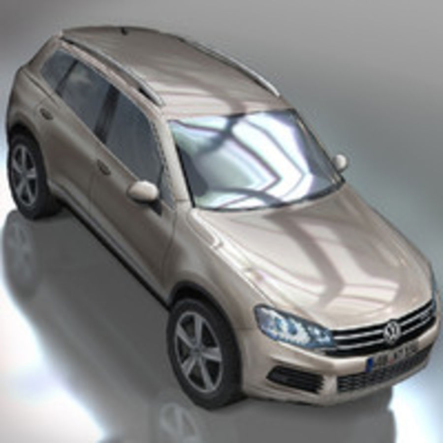 VolksWagen Car Touareg royalty-free 3d model - Preview no. 2