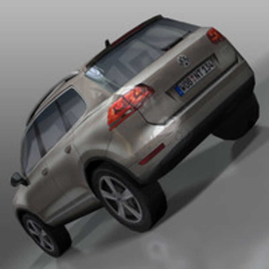VolksWagen Car Touareg royalty-free 3d model - Preview no. 6
