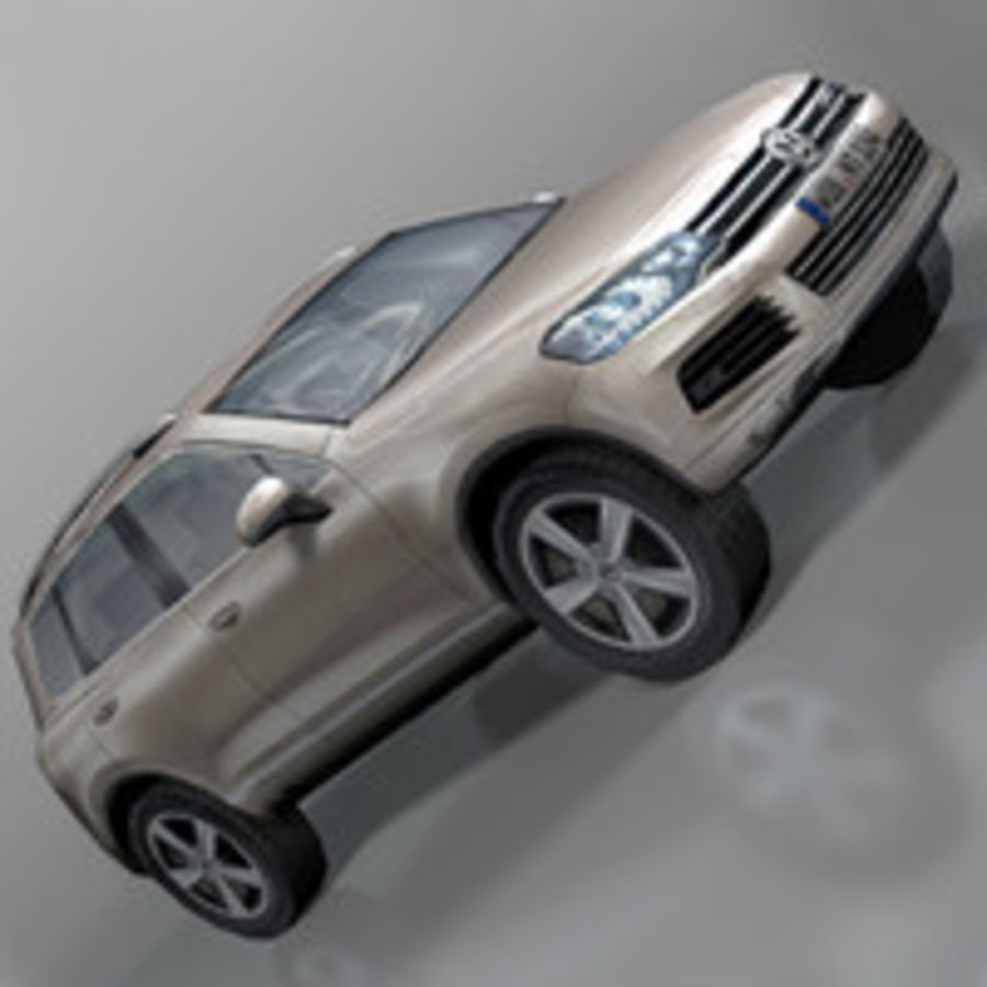 VolksWagen Car Touareg royalty-free 3d model - Preview no. 1